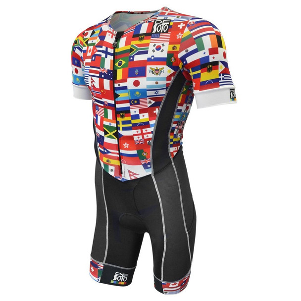 DeSoto Men's Forza Flisuit Tri Suit with Sleeves