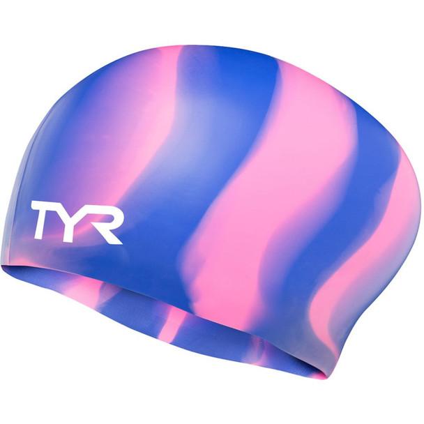 TYR Multi-Color Long Hair Silicone Swim Cap