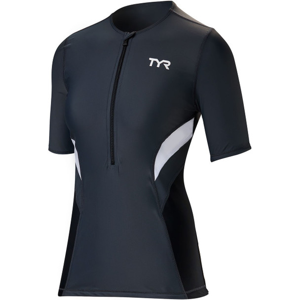 TYR Women's Competitor Short Sleeve Tri Top