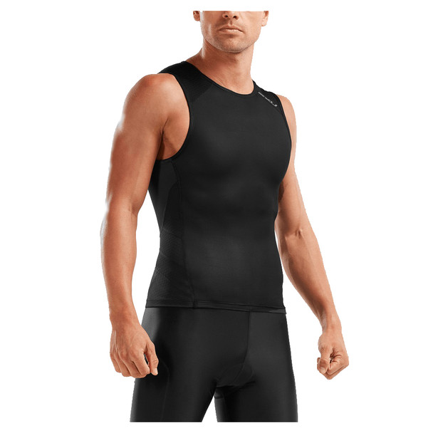 2XU Men's Perform Rear Zip Tri Singlet