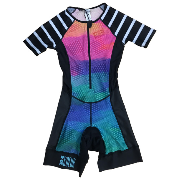 Coeur Sports Women's Sunset Strip Sleeved Tri Suit