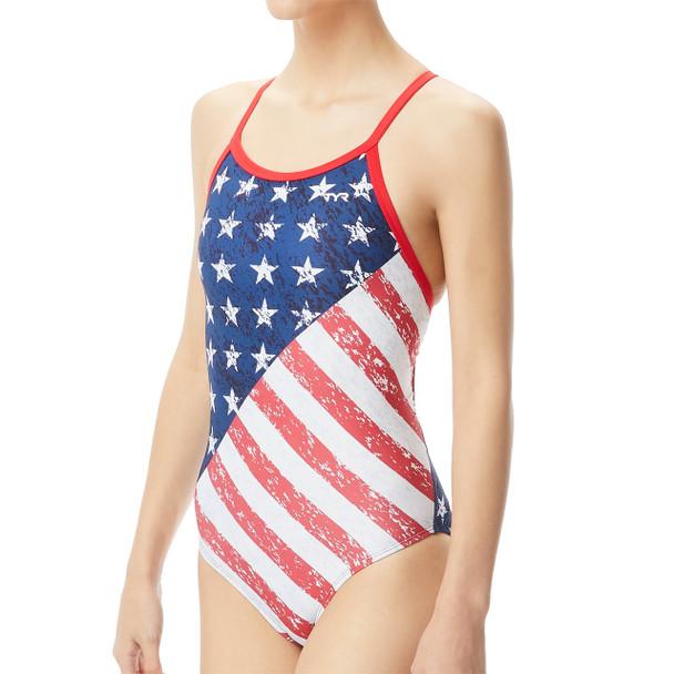 TYR Women's Star Spangled Diamondfit Swimsuit