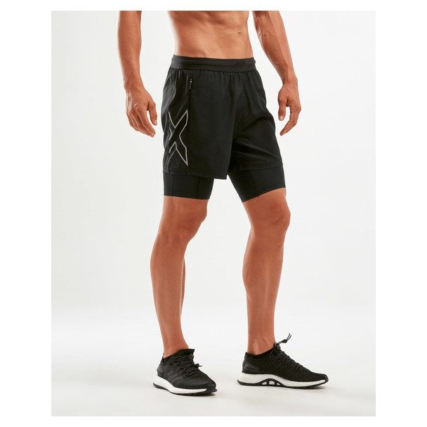 "2XU Men's XVent 5"" 2-in1 Compression Short"
