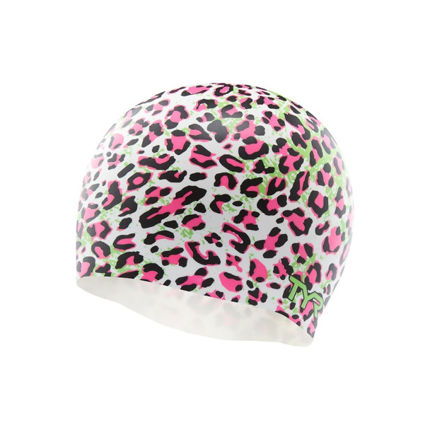 TYR Leopard Silicone Swim Cap