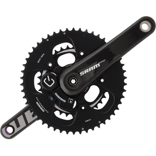 SRAM Quarq S975 GXP Powermeter Crankset 172.5mm 53-39 Black Rings Bottom Bracket Not Included price