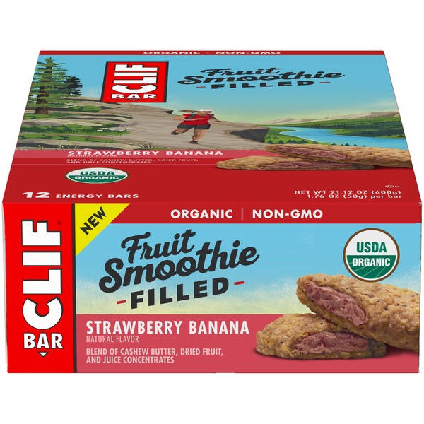 Clif Bar Fruit Smoothie Filled Bars - Box of 12 price