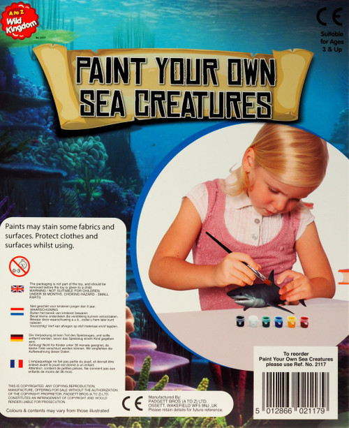 Set Of 2 Paint Your Own Sea Life Creatures Rays Shark Craft Kits Turtle