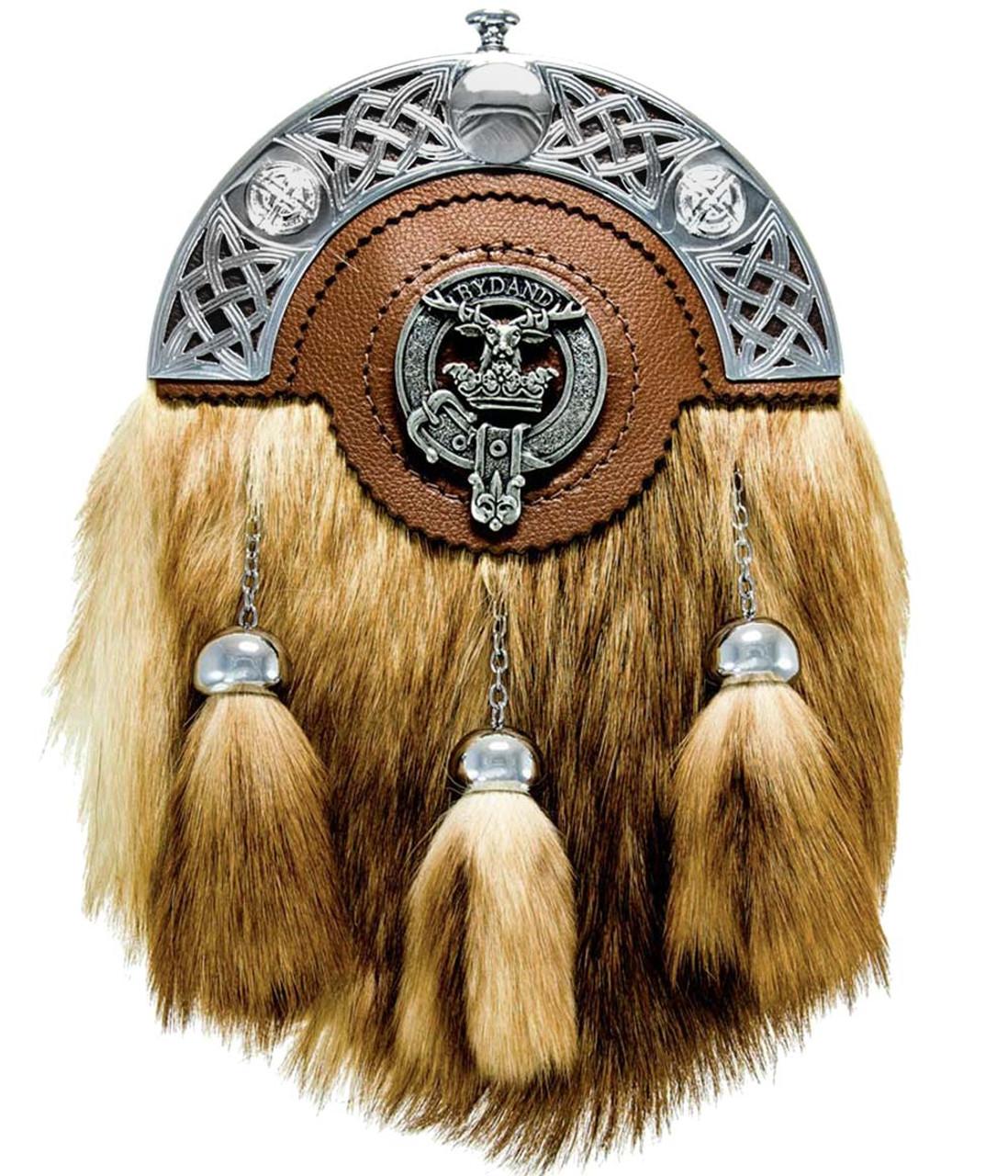 Carnegie Scottish Clan Crest Badge Dress Fur Sporran