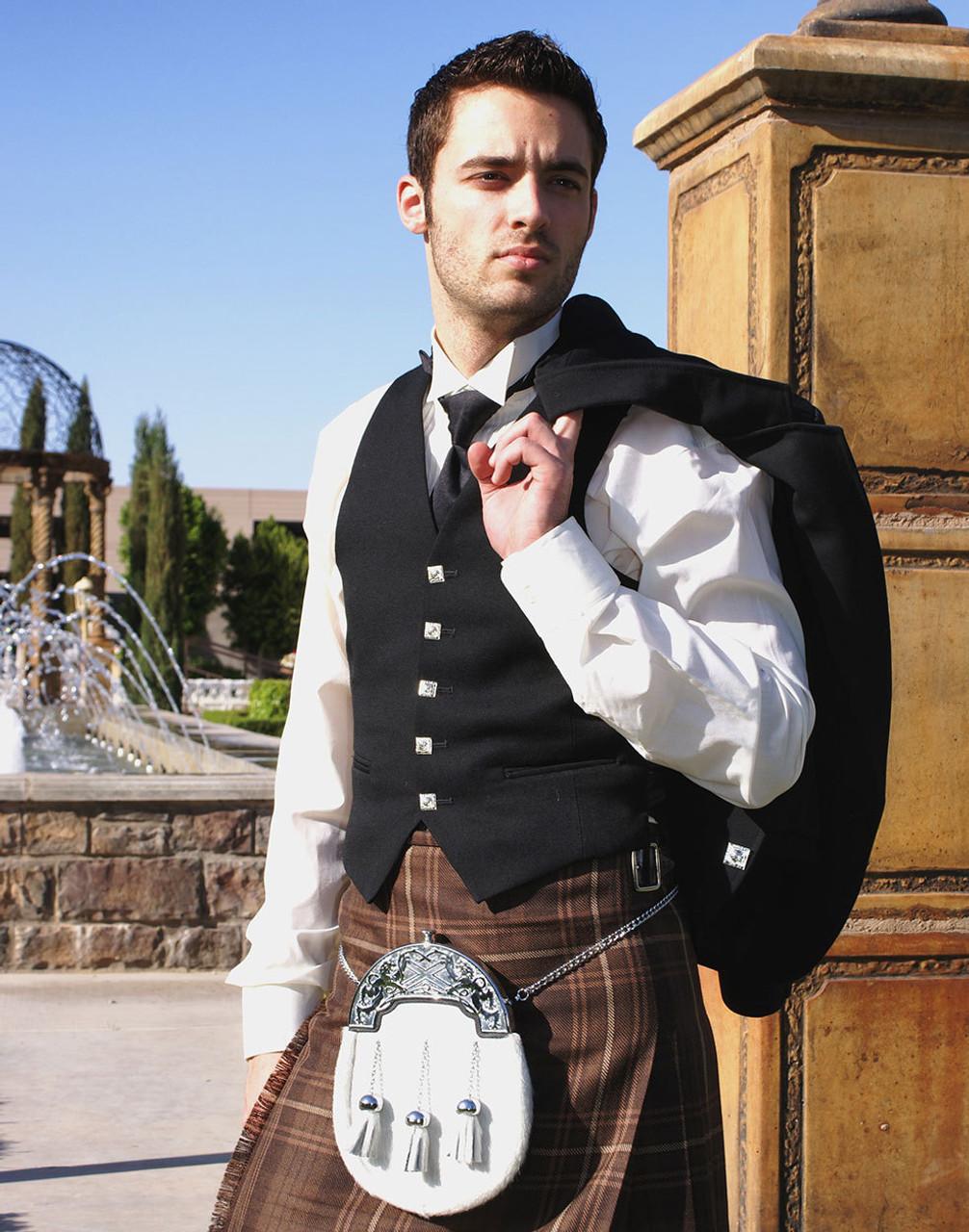 Scottish Kilt Fly Plaid Cameron of Errachet Tartan Acrylic Wool 48 x 48//Highland