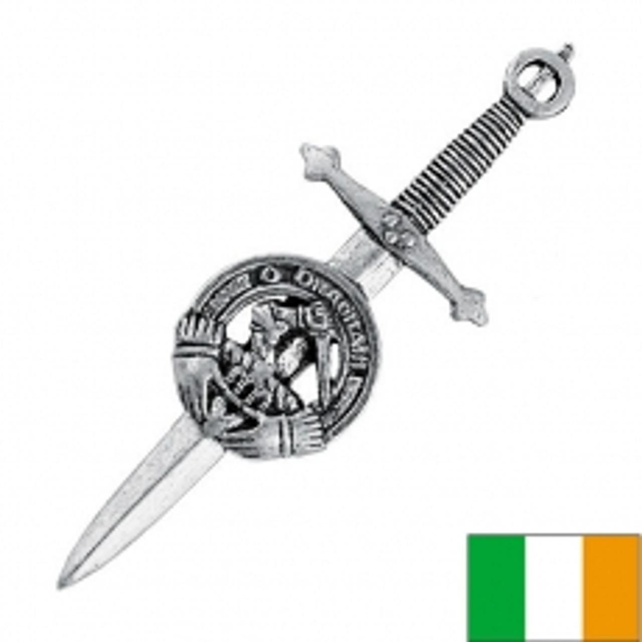 USA Kilts Caroll Irish Clan Crest Kilt Pin Made in Scotland