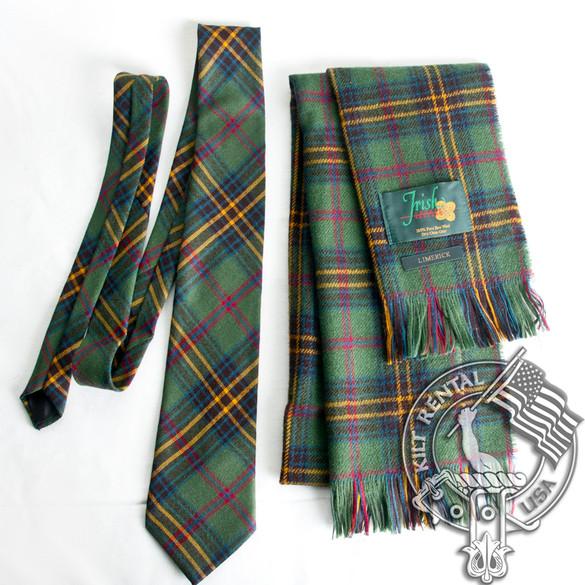 Ireland County Pure Wool Neck Tie in Irish County Sligo Tartan