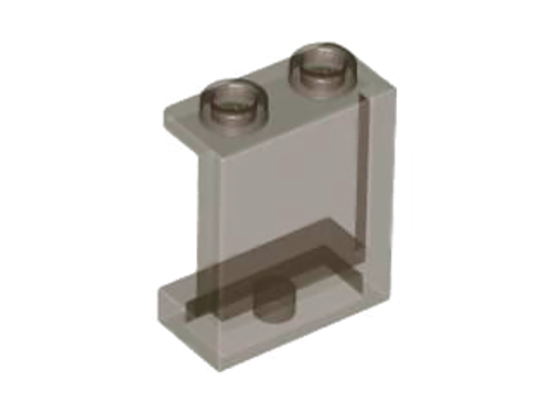 Panel 1x2x2 with Side Supports - Hollow Studs (Trans Black)