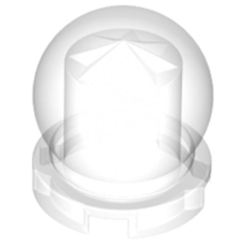 Minifigure, Utensil Crystal Ball Globe 2x2x2 (Trans Clear)