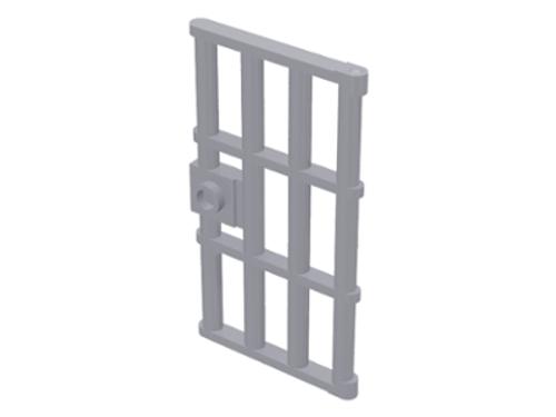 Door 1x4x6 Barred with Stud Handle (Light Bluish Gray)