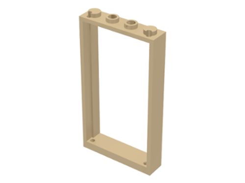 Door Frame 1x4x6 with Two Holes on Top and Bottom (Tan)