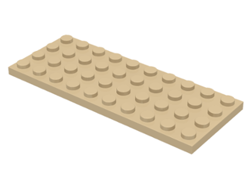 Plate 4x10 (Tan)