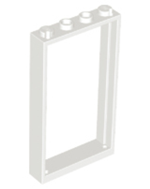 Door Frame 1x4x6 with Two Holes on Top and Bottom (White)