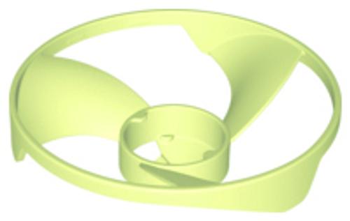 Propeller 3 Blade 13 Diameter (Ninjago Airjitzu Flyer Vortex Rotor) (Yellowish Green)