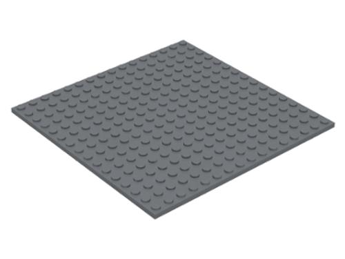 Plate 16x16 (Dark Bluish Gray)