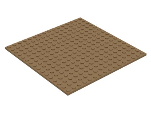 Plate 16x16 (Dark Tan)