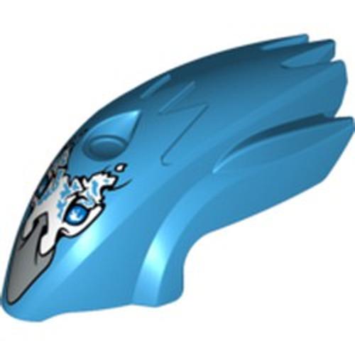 Flywheel Fairing Bird Shape with Silver Beak Voom Voom Pattern (70151) (Dark Azure)