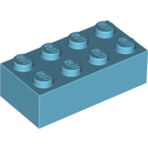 Brick 2x4 (Medium Azure)