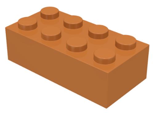 Brick 2x4 (Medium Dark Flesh)