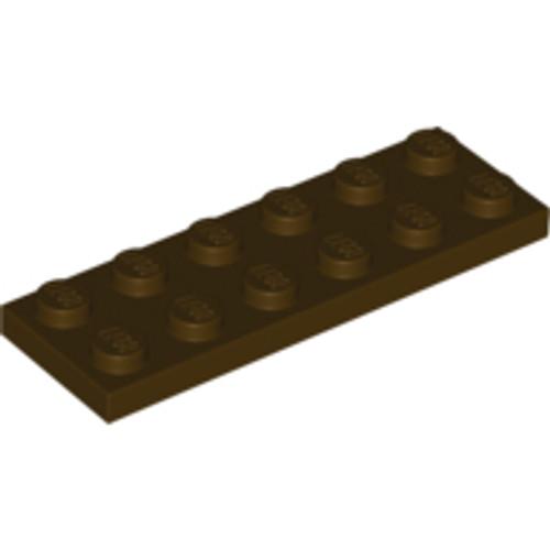 Plate 2x6 (Dark Brown)