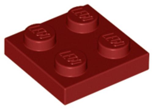 Plate 2x2 (Dark Red)