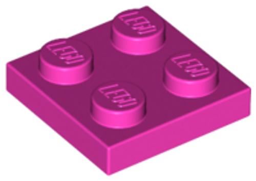Plate 2x2 (Dark Pink)