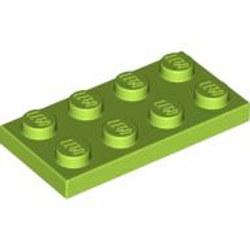 Plate 2x4 (Lime)