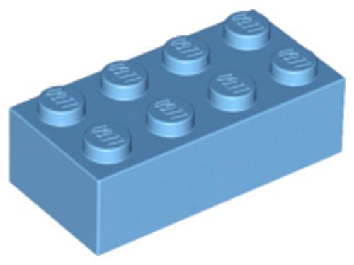 Brick 2x4 (Medium Blue)