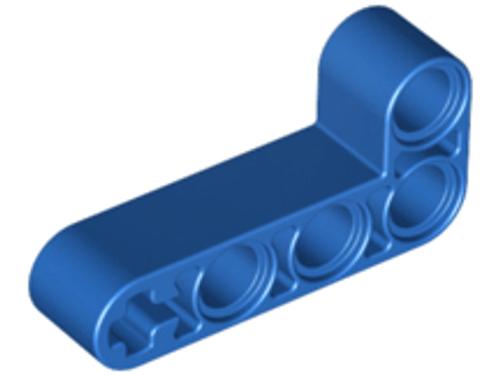 Technic, Liftarm 2x4 L-Shape Thick (Blue)