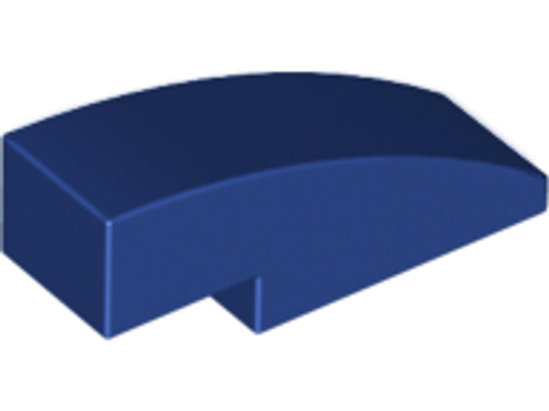 Slope, Curved 3x1 No Studs (1x3) (Dark Blue)