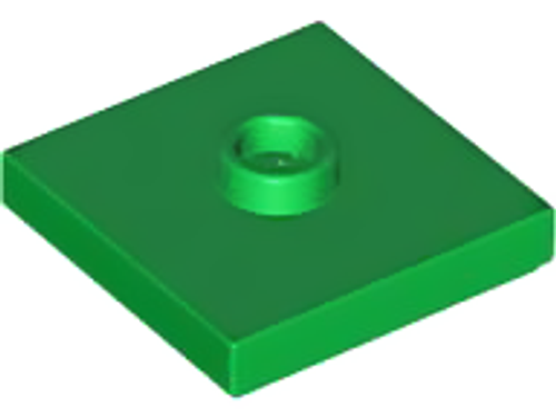 Plate Tile, Modified 2x2 with Groove and 1 Stud in Centre (Jumper) (Green)