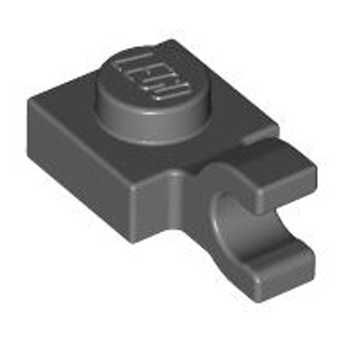Plate, Modified 1x1 with Clip Horizontal (thick open O clip) (Dark Bluish Gray)