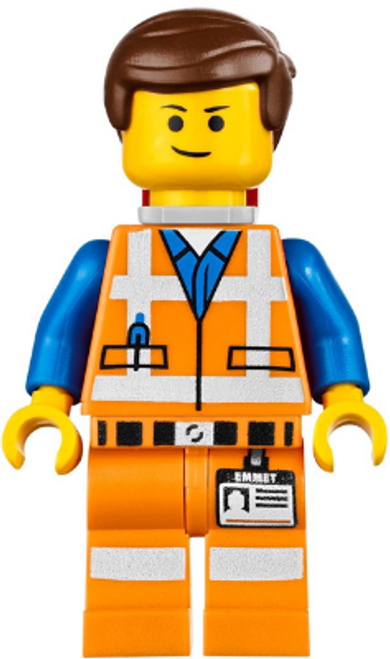 Emmet - Lopsided Closed Mouth Smile, with Piece of Resistance
