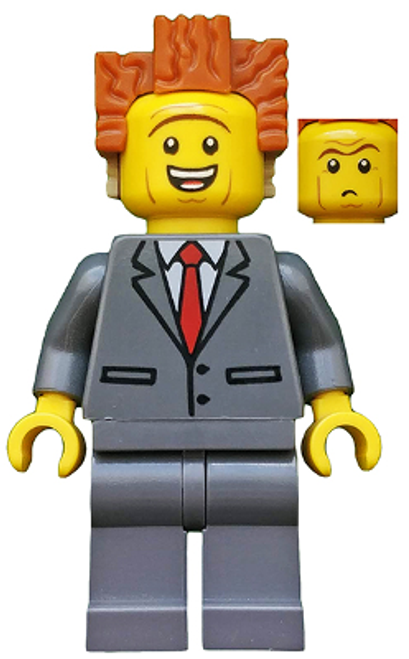 President Business - Smiling, Raised Eyebrows