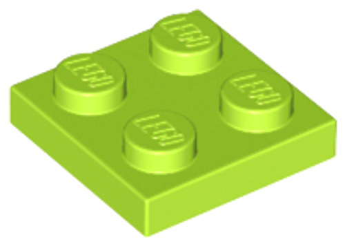 Plate 2x2 (Lime)