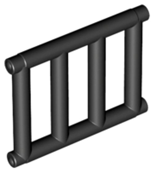 Bar 1x4x3 with End Protrusions (Black)