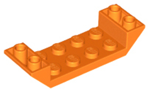 Slope, Inverted 45 6 x2 Double with 2 x 4 Cutout (Orange)