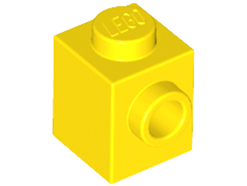 Brick, Modified 1x1 with Stud on 1 Side (Yellow)