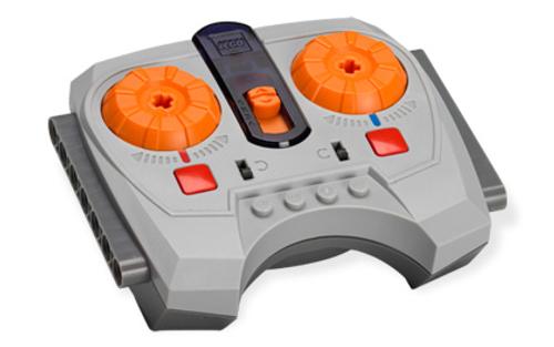 Electric, Power Functions IR Speed Remote Control Unit with Dark Bluish Gray Base (Light Bluish Gray)