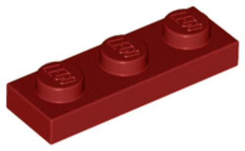 Plate 1x3 (Dark Red)
