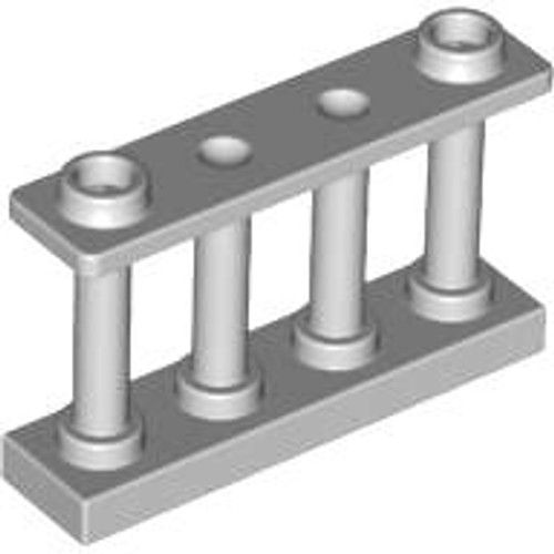 Fence 1x4x2 Spindled with 2 Studs (Light Bluish Gray)