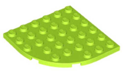 Plate, Round Corner 6x6 (Lime)