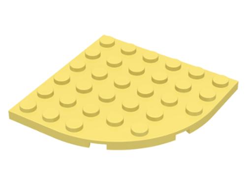 Plate, Round Corner 6x6 (Bright Light Yellow)