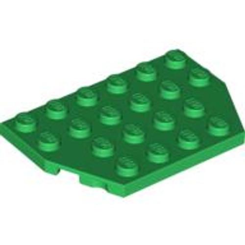 Wedge, Plate 4x6 Cut Corners (Green)