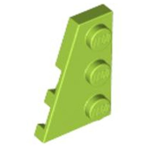 Wedge, Plate 3x2 Left (Lime)