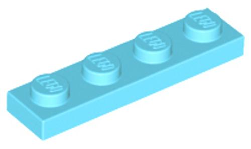 Plate 1x4 (Medium Azure)